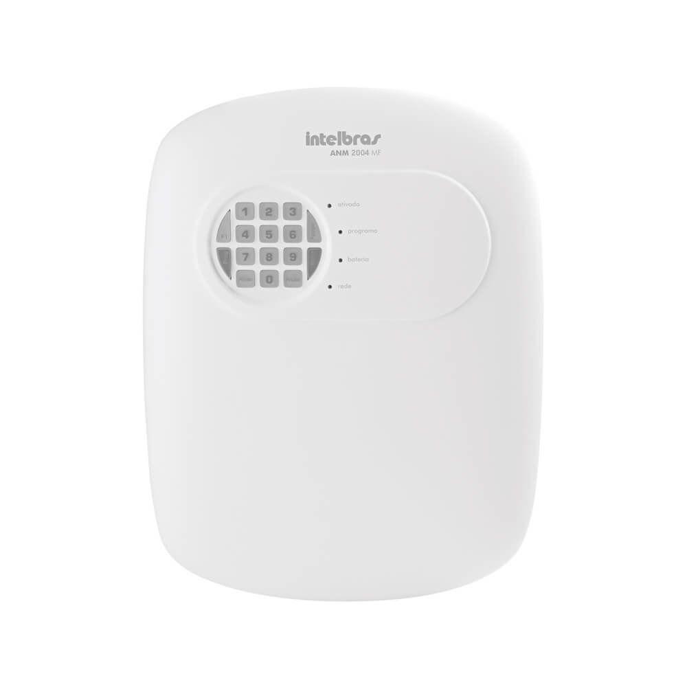 Central alarme intelbras discadora para 6 números 4 zonas mista + 1 Controle 433,92 MHz ANM 2004 MF - JS Soluções em Segurança