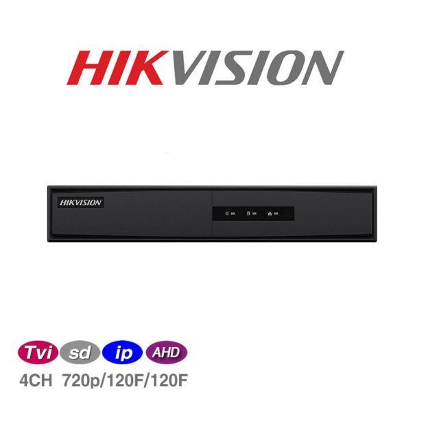 DVR GRAVADOR PENTAFLEX 4 CANAIS TURBO HD  (HDTVI, AHD-M, HDCVI, Analógica e IP 1 canal ) 5 X 1 Hikvision 720p - JS Soluções em Segurança