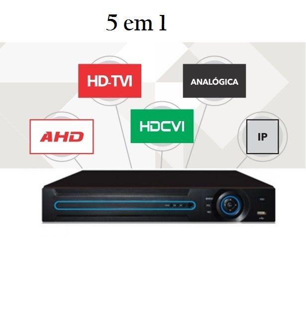 DVR PENTAFLEX  8 CANAIS H.265 AHD, HDCVI, HDTVI , ANALOGICO e IP 1080p + Acesso QR Cloud Nuvem 5 em 1 - JS Soluções em Segurança