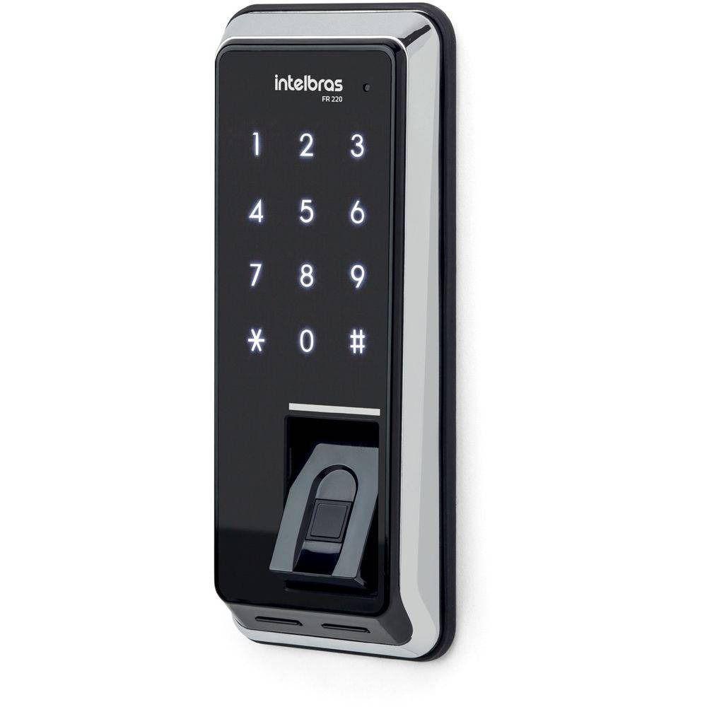 Fechadura digital de sobrepor com biometria FR220 intelbras  - JS Soluções em Segurança