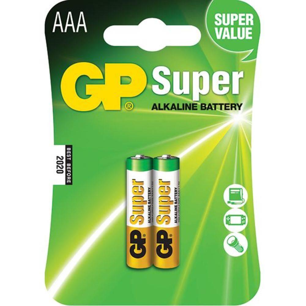 GP Super Alkaline AAA 2 unidades - JS Soluções em Segurança