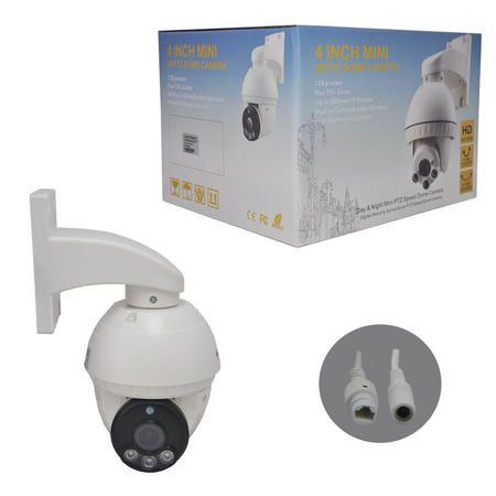 IP Speed dome infra 2.0 Megapixels 4X óptico + Fonte 12V IP66 1080p - JS Soluções em Segurança