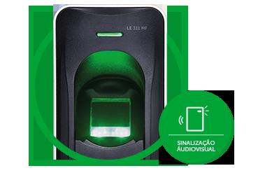 Leitor biométrico com RFID 13,56 MHz LE 311 MF  - JS Soluções em Segurança
