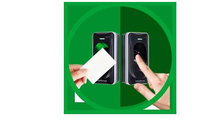 Leitor biométrico com RFID 125 Khz IP66 externo intelbras LE 311 E - JS Soluções em Segurança