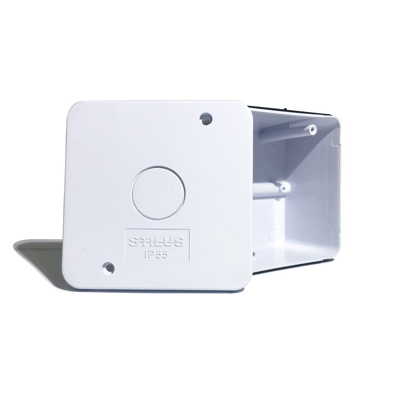 Mini Caixa Organizadora para CFTV ABS UV 85X85X50 - JS Soluções em Segurança