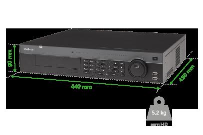 NVR gravador intelbras 32 câmeras IP em Full HD até 12 Megapixels - NVD 7132 4k - JS Soluções em Segurança
