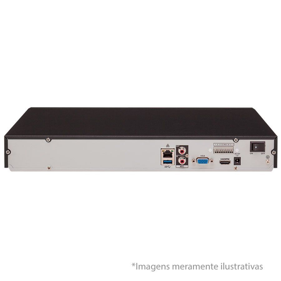 NVR Gravador digital de vídeo 16 canais Full HD até 8 Megapixels NVD 3116 Intelbras 4k - JS Soluções em Segurança