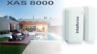Sensor de abertura magnético sem fio intelbras XAS 8000  - JS Soluções em Segurança