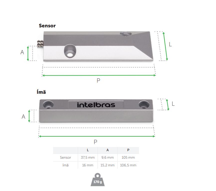 Sensor de abertura para portas e portões metálicos - Intelbras  XAS PORTA DE AÇO - JS Soluções em Segurança