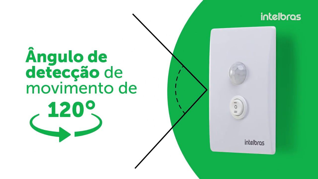 Sensor de presença para iluminação intelbras ESP 180 E+ - JS Soluções em Segurança