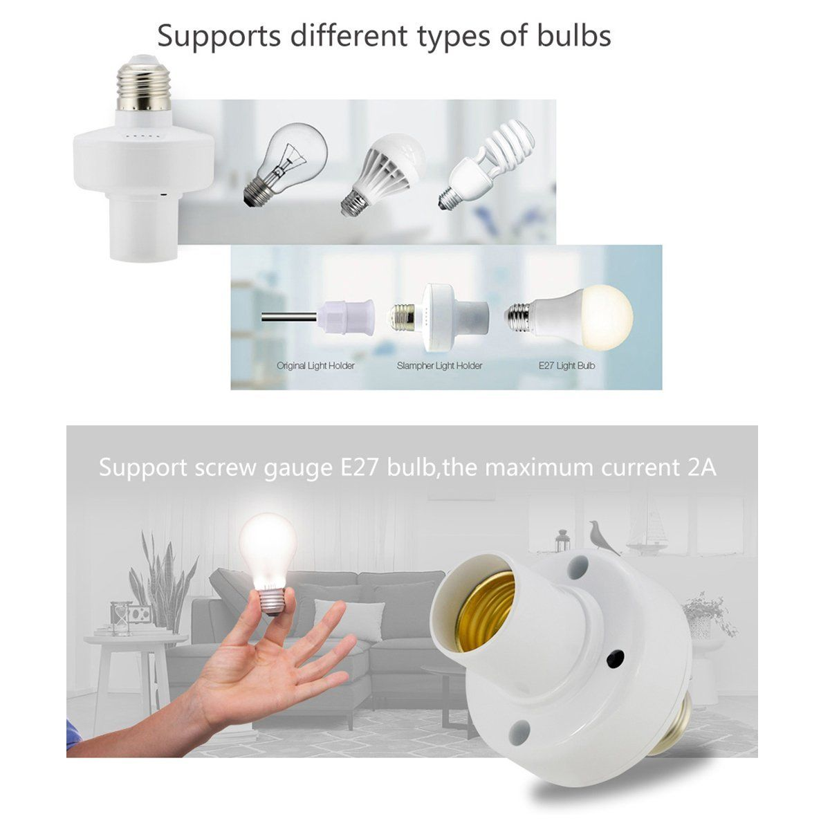 Modulo Smart Sonoff slampher lamp Holder bivolt Wifi - JS Soluções em Segurança