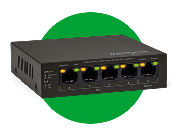Switch 5 portas Fast com 4 portas PoE SF 500 PoE  - JS Soluções em Segurança