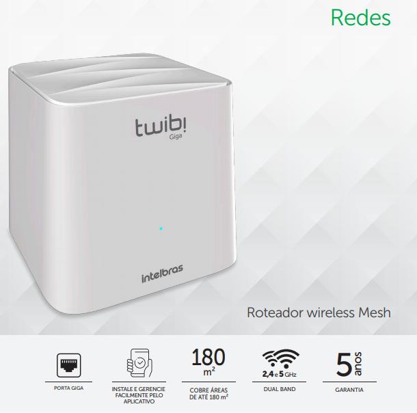 TWIBI GIGA Sistema Wi-Fi Mesh Intelbras - JS Soluções em Segurança