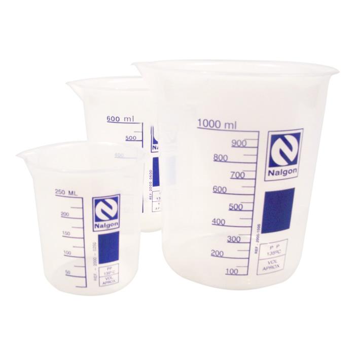 Compre 4 Copos Becker em Polipropileno 250, 400, 600 e 1000mL