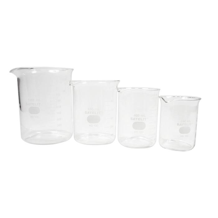 Compre 4 Copos Beckers (Griffin) em Vidro Forma Baixa 250, 400, 600 e 1000mL