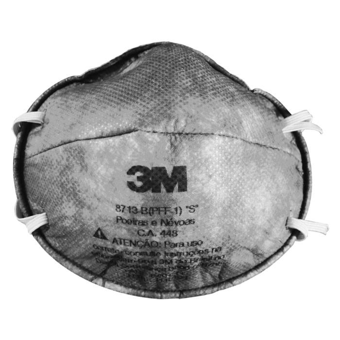 Máscara (Respirador) Descartável 8713-B 3M - Pacote com 20 unidades