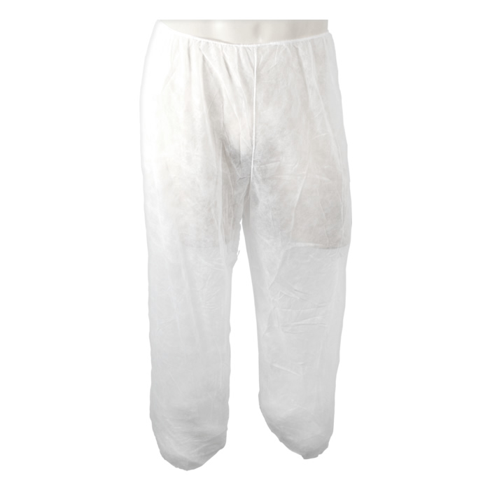 Calça Descartável em TNT Branca - Pacote com 10 peças