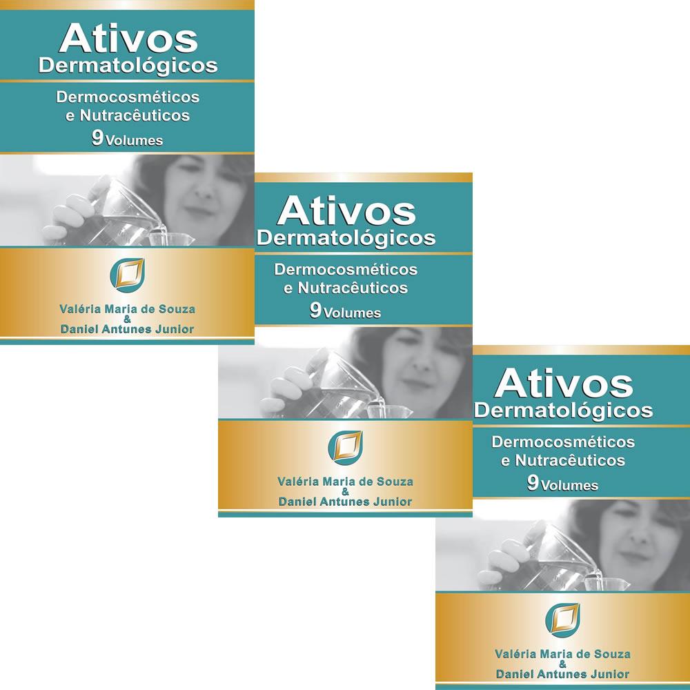 Compre 3 Livros Ativos Dermatologicos: Dermocosméticos e Nutracêuticos 9 Volumes 2016