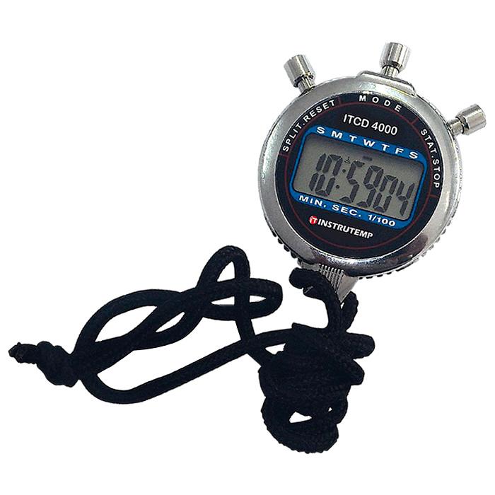 Cronômetro Digital Portátil com Relógio e Alarme em Aço Inox Ref. ITCD 4000