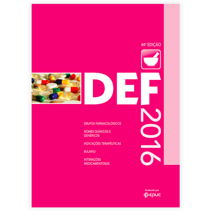 Livro - DEF 2016 Dicionário de Especialidades Farmacêuticas 44ª Edição