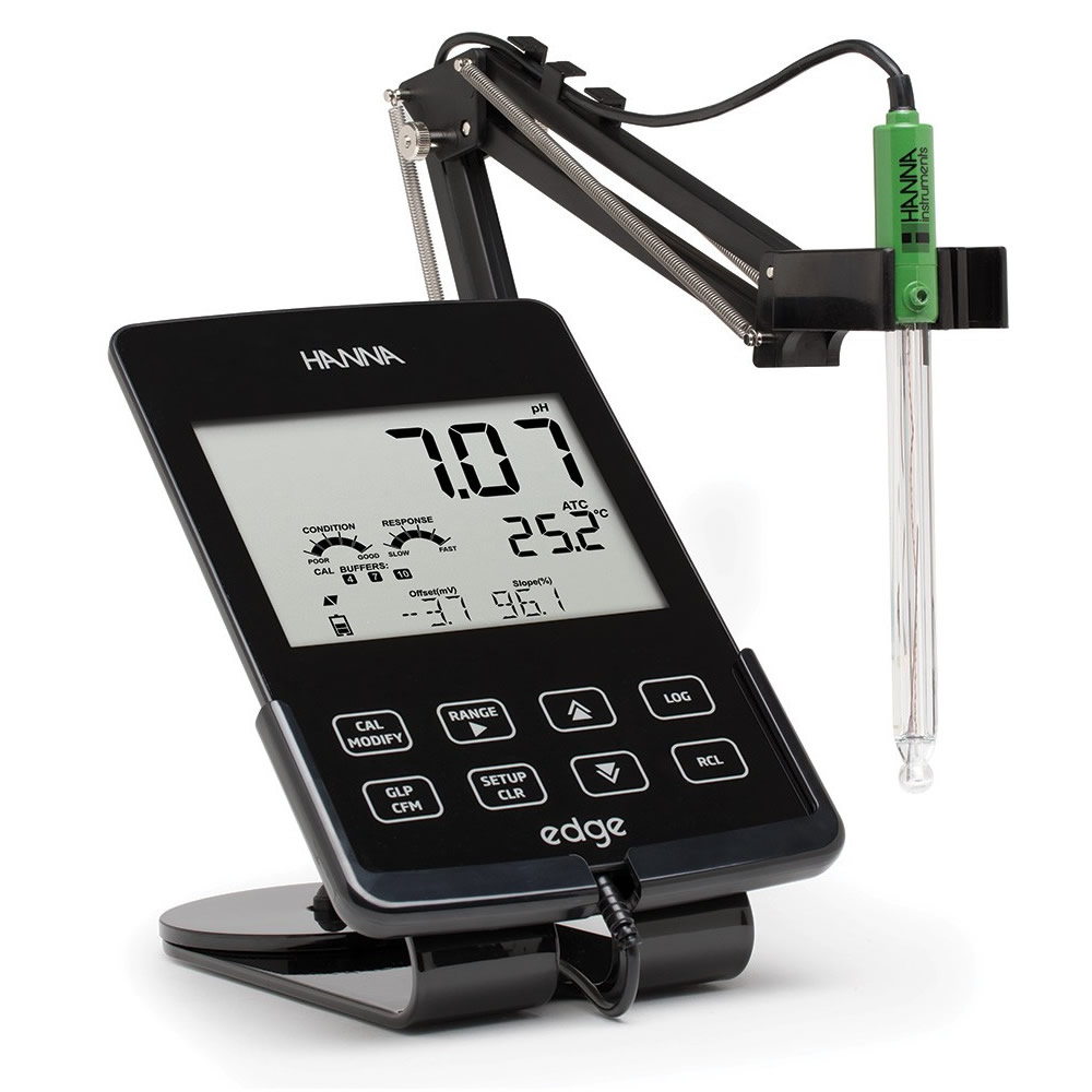 Medidor Multiparâmetro de Bancada / Portátil Edge USB (Kit de pH) pH 220V Ref. HI 2020-02