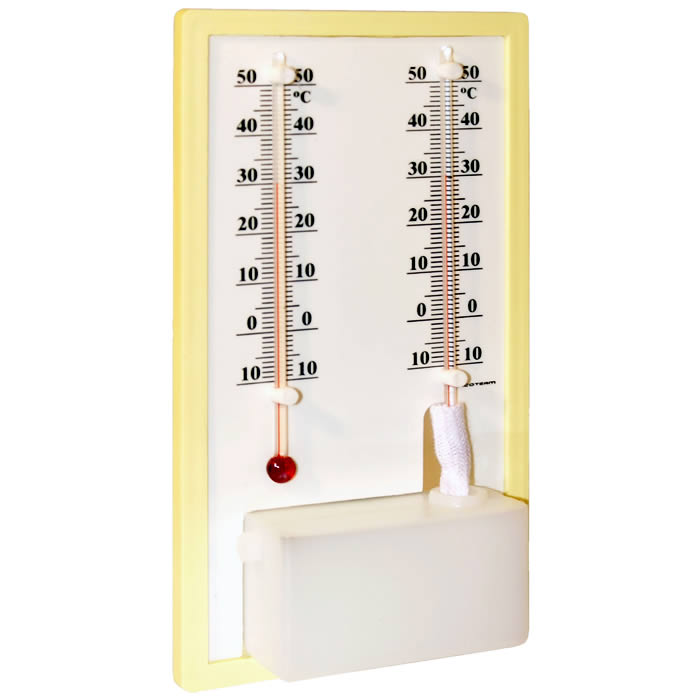 Termohigrômetro Analógico Bulbo Seco e Úmido -50+70ºC Ref. 5195.03