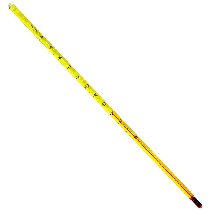 Termômetro Químico Escala Externa Capilar Amarelo