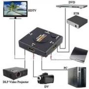 Mini Hub Switch Chaveador  HDMI 3 Portas Full HD 1080P 3x1 - RPC-COMMERCE