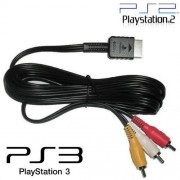 Cabo AV (RCA) áudio e vídeo para Play Station PS3, PS2, PS1 - RPC-COMMERCE