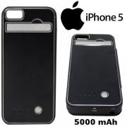Capa Case Bateria Externa Iphone 5 Ultra Slim - 5000 mAh Preta - RPC-COMMERCE