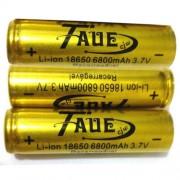 Kit com 3 Baterias Taue 18650 8200mah 3.7v Li-ion - Recarreg�vel - RPC-COMMERCE