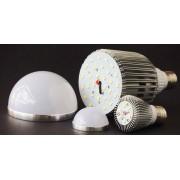 Lâmpada Led Superled 9W Bulbo Bivolt E27 Branco Frio - RPC-COMMERCE