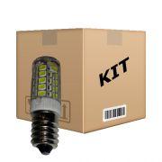 Kit 10 Lâmpadas Super Led 3W Econômica Bivolt E14 Branco Quente - RPC-COMMERCE