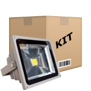 Kit 10 Refletores Led Holofote Branco Frio 50W IP65 Bivolt - RPC-COMMERCE