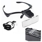 Óculos Lupa de Cabeça com 5 Lentes luz LED Profissional - RPC-COMMERCE