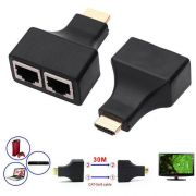 Extensor Hdmi 3D 30 Metros Via Cabo De Rede UTP RJ45 Cat5e/6 - RPC-COMMERCE