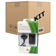 5 Kit Play e Charge para Controle sem fio do XBox 360 - RPC-COMMERCE