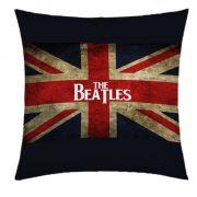 Almofada Desenhada Decora��o The Beatles com 2 pe�as tecido Microfibra - Almofada Digital