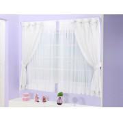 Cortina de Quarto para Menina Mirela  2 metros cor Branca - Casa Sua Beleza