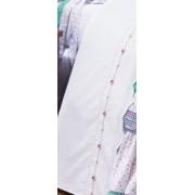 Len�ol de Cama Branco Cama Solteiro para Menina com 03 pe�as - Roupa de Cama Hortela