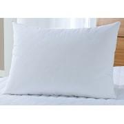 Protetor Travesseiro 50cm x 70cm Branco em Microfibra 100% Poliester com 1 pe�as - Protetor Travesse