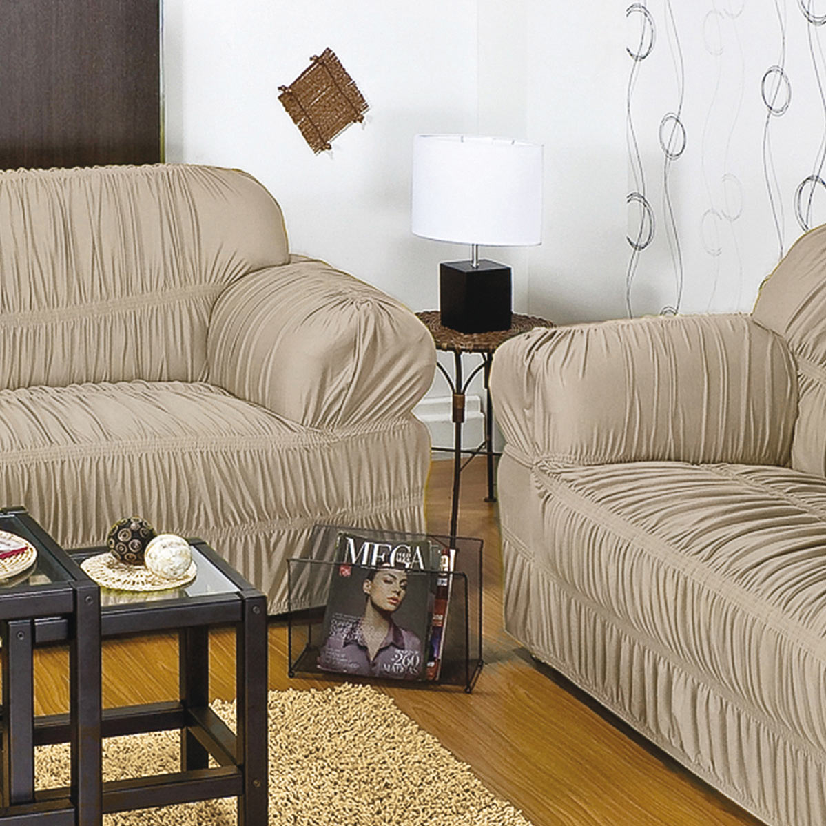 Capa para sofa com 20 elasticos e em malha gel para 2 ou 3 for Sofas de 2 metros