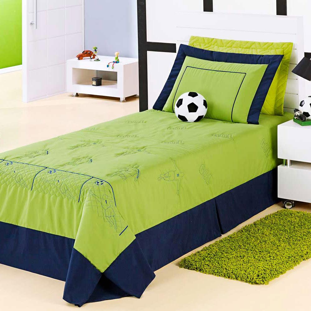 Colcha cobre leito menino futebol cama solteiro na cor - Dosel para cama infantil ...