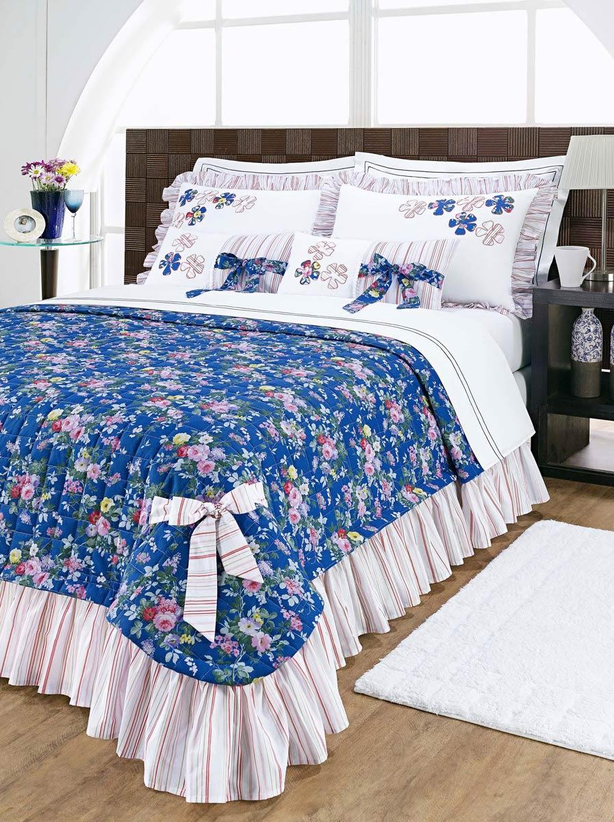 Colcha e cobre leito casal - Colchas para cama de 150 ...