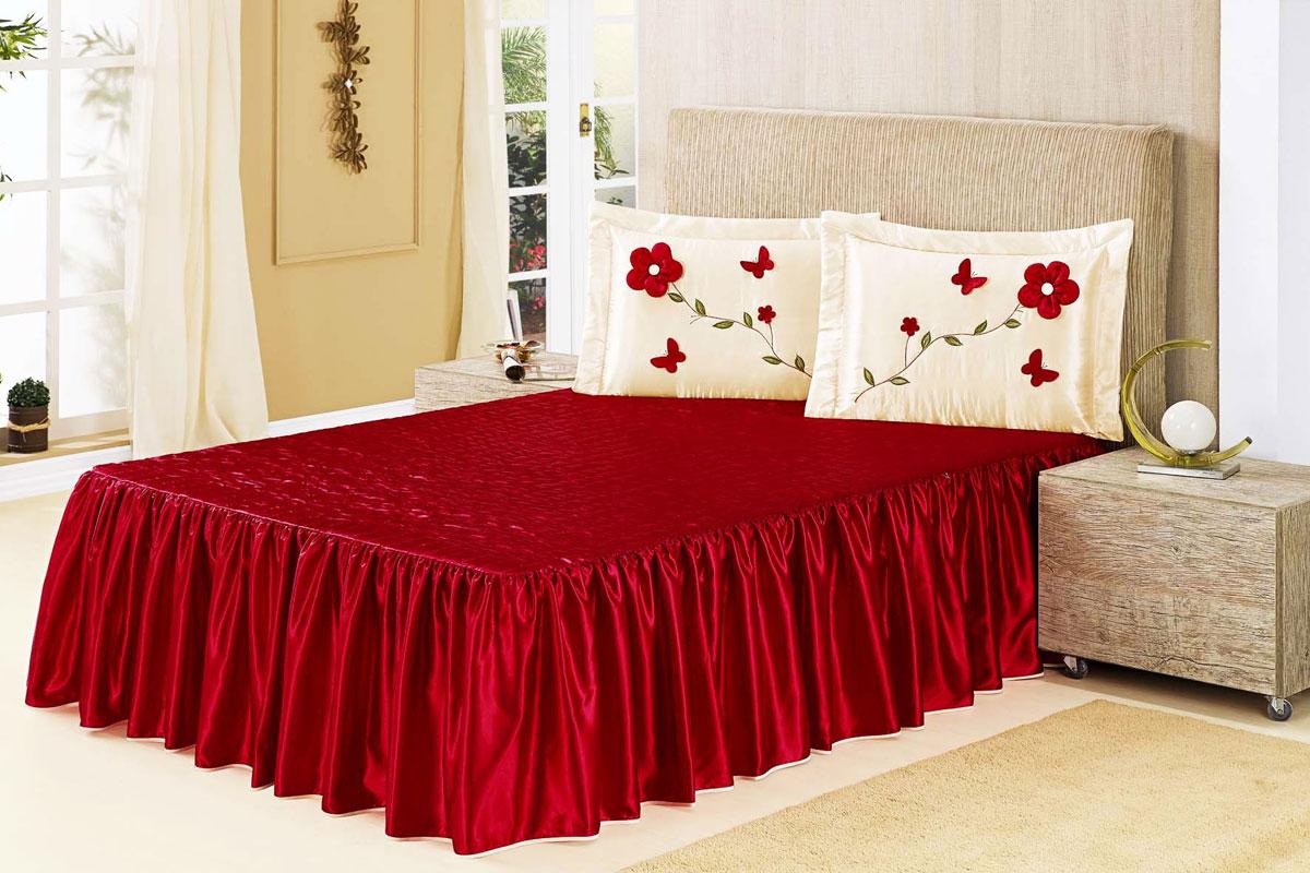 Colcha e cobre leito casal - Colchas para camas de 150 ...
