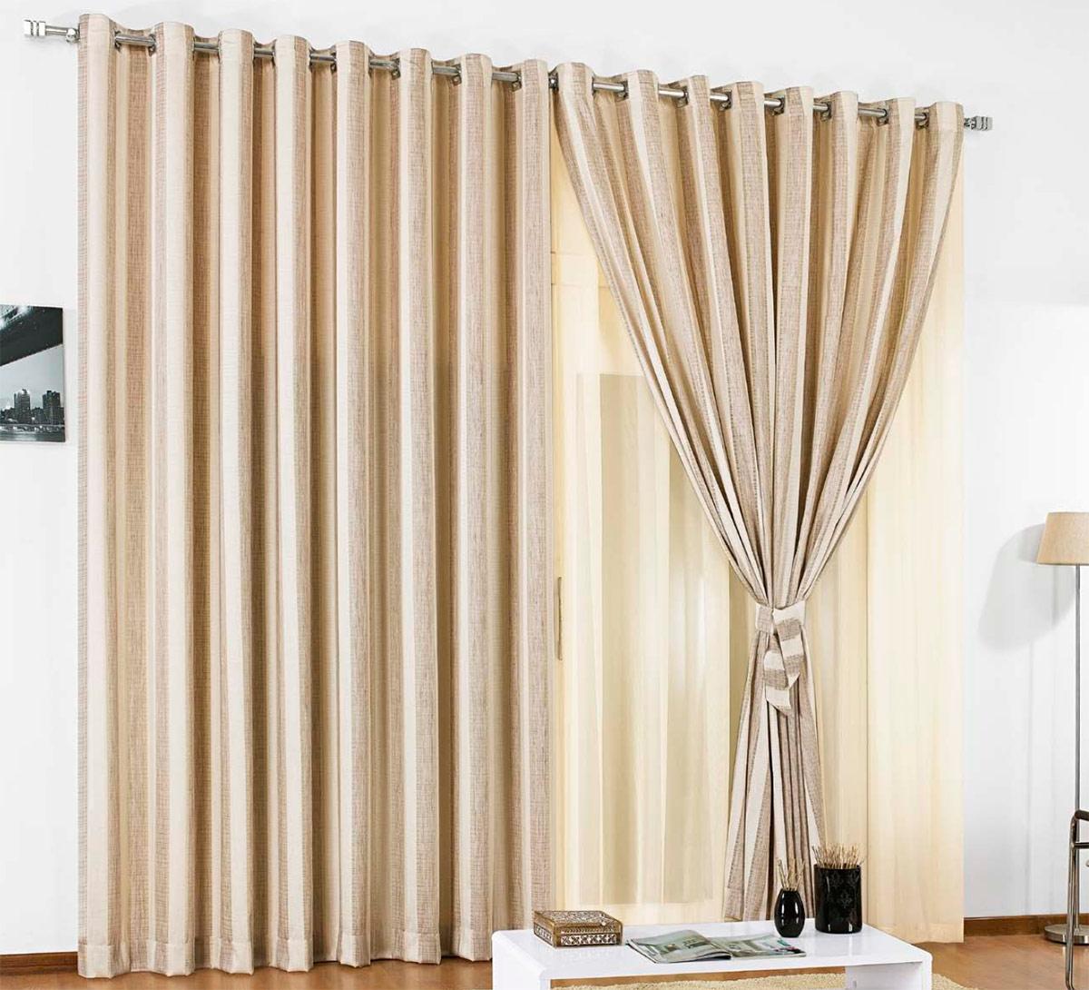Cortina sala e quarto 3 metros palha seda e poliester for Tipos de ganchos para cortinas