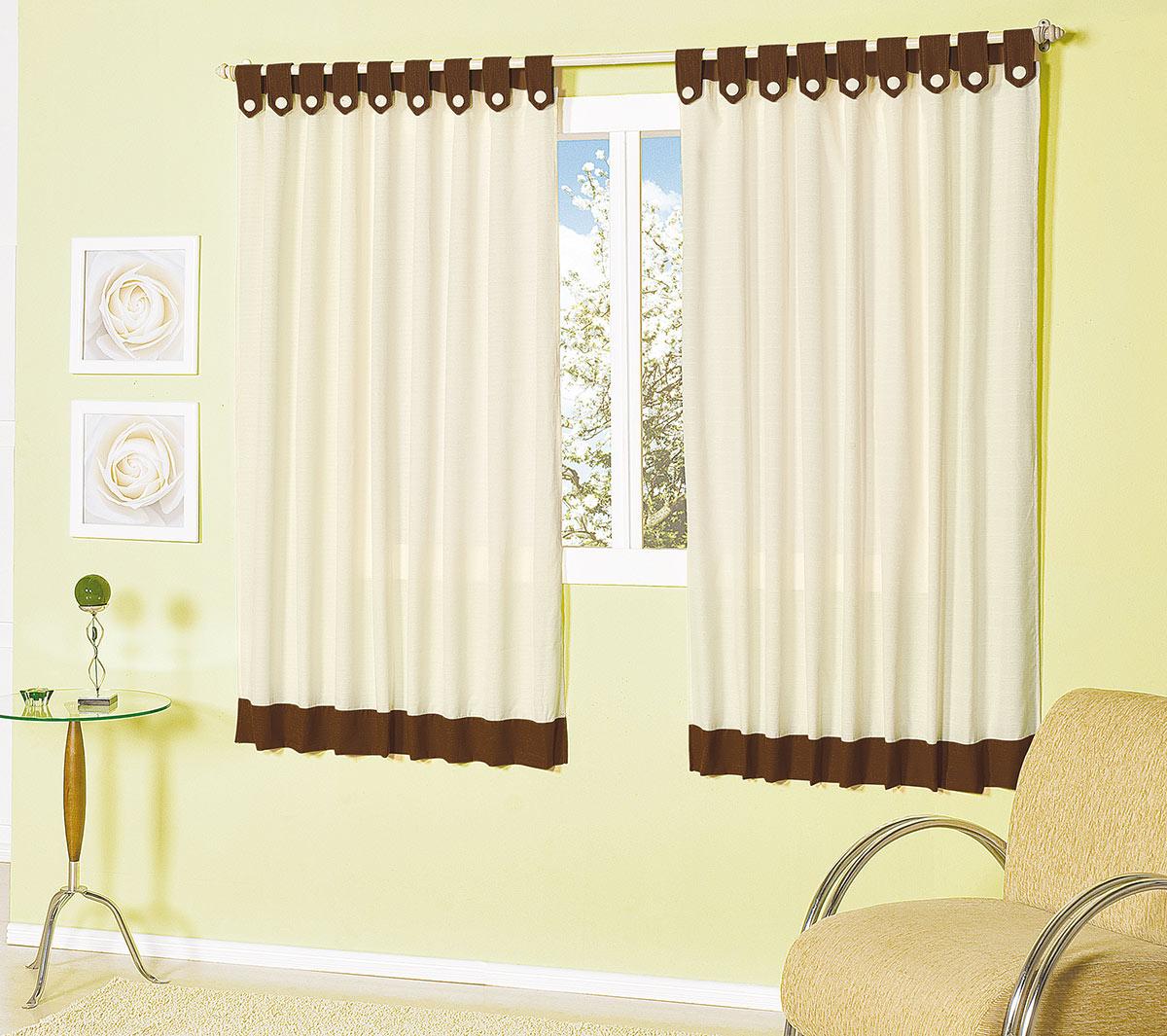 Cortina sala e quarto palha e marrom tecido capri para for Cortinas de plastico para exteriores