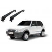 Rack de Teto Aluminio Long Life Sports - FIAT UNO MILLE at� 2010 4 portas - cor preta