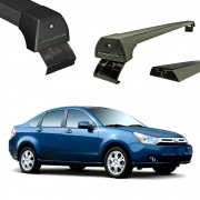 Rack Teto Bagageiro Focus Hatch Sedan ate 2009 Longlife Modelo Aluminio
