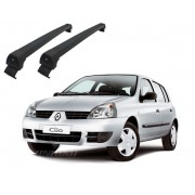 Rack de Teto Aluminio Long Life Sports - CLIO HATCH/SEDAN E SYMBOL 4 portas a partir de 2000 - preta